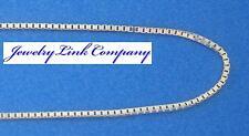 "14K White Gold 0.75mm Box Chain 30"" 2.8grams Italian w/ spring ring"