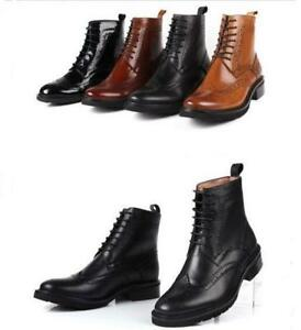 4-Color-Womens-Leather-Lace-Up-Wing-Tip-Brogue-Ankle-Boots-Oxfords-Shoes-Retro