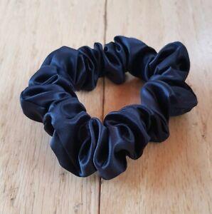 NEW-Slip-Silk-Large-Hair-Scrunchie-Tie-Bobble-in-Black