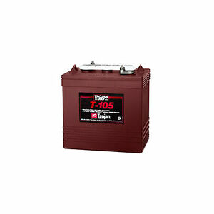 231404138652 on trojan t 105 6 volt deep cycle flooded golf cart battery