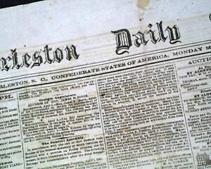 Confederate-States-of-America-CHARLESTON-South-Carolina-Civil-War-1863-Newspaper