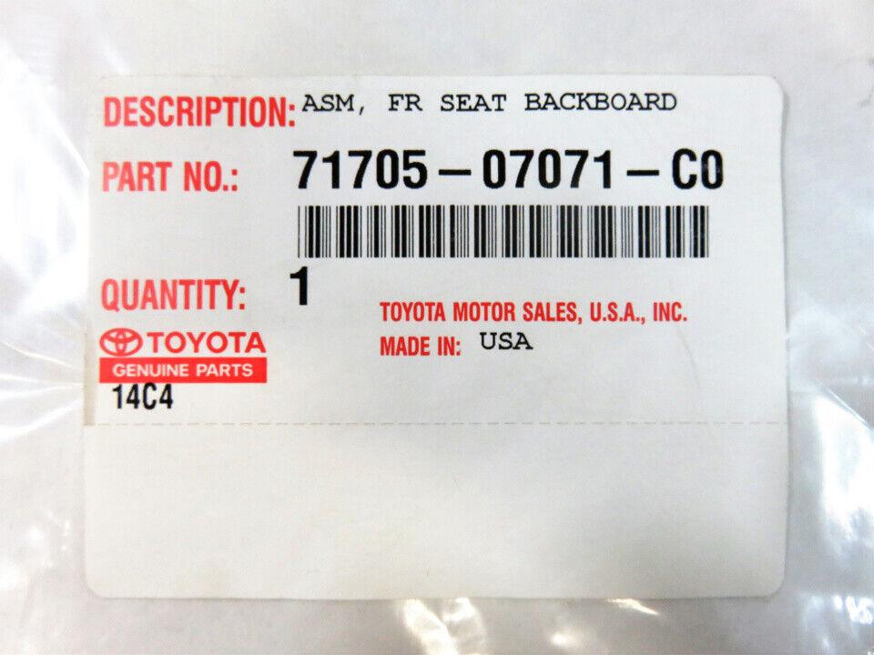 TOYOTA Genuine 71705-07071-A0 Seat Back Board
