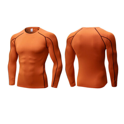Men Tight Base Layer Compression T Shirt Long Sleeve Gym Sport Wear Jersey Tops