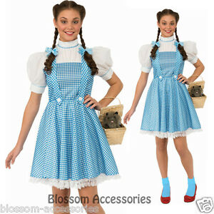 f82c9cb556463 C931RB Licensed Wizard of Oz Dorothy Fancy Dress Halloween Adult ...