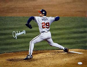 John Smoltz Autographed Atlanta Braves 16x20 Side View Pitching Photo- JSA Auth