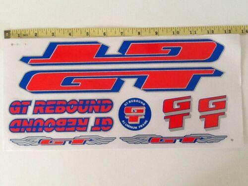 Blue /& Silver. GT Rebound Stickers Red