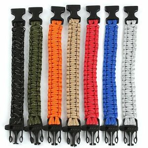Outdoor-Camping-Survival-SOS-Whistle-Paracord-Reflect-Bracelet-EDC-Emergency