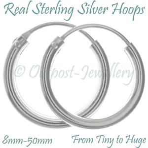 Real-Silver-Hoop-Sleeper-Earring-Pair-of-Plain-925-Sterling-Ear-Tiny-For-Men-Boy