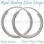 Real-Silver-Hoop-Sleeper-Earring-Pair-of-Plain-925-Sterling-Ear-Tiny-For-Men-Boy thumbnail 1