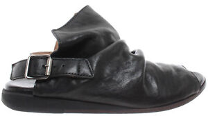 840b80c6827 MOMA Women's Shoes Sandals 36903-8A Lubrix Nero Leather Black Made ...