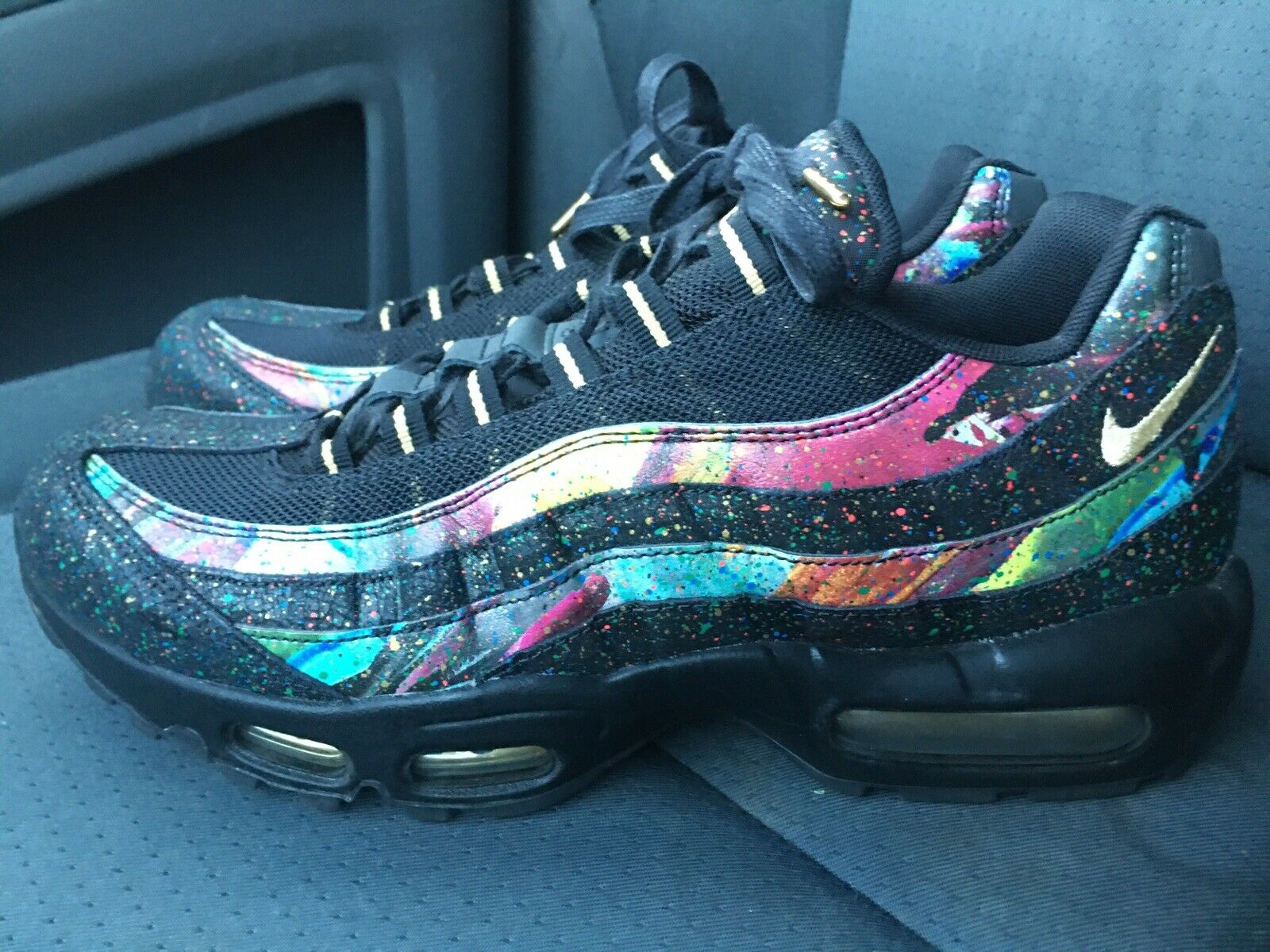 new concept 100% top quality pretty nice Nike Air Max 95 Caribana Mens At6142-001 Black Gold Cobalt Blaze ...