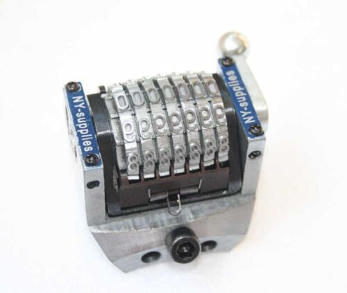 """Heath New 3//16/"""" Rotary Convex Backwards Numbering Machine for Kirk Rudy"""