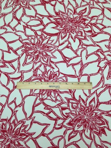 """RICHLOOM MAITLIN CALYPSO RED WHITE OUTDOOR FURNITURE FABRIC BY THE YARD 54/"""" W"""