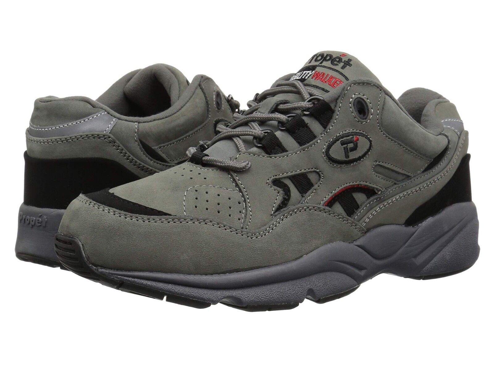 NEW Mens Mens Mens Propet Stability Walker Grey Black Nubuck Leather Walking shoes GENUINE dbfbf6