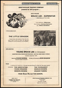 Young-BRUCE-LEE-SUPERSTAR-Orig-1976-Trade-AD-promo-poster-THE-LITTLE-DRAGON