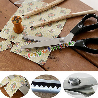 New Stainless Pro Zig Zag Sewing Pinking Dressmaking Cut Tailor Shears Scissors