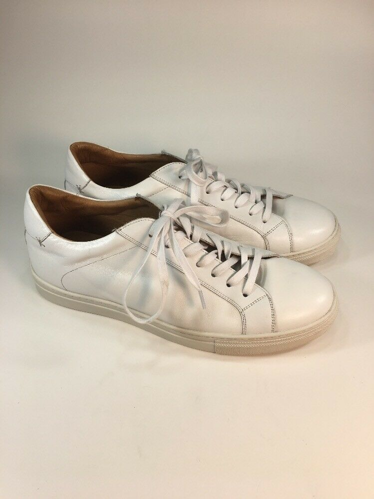 Official Program 225 White Leather Designer Sneakers Shoes Mens Size 10 M
