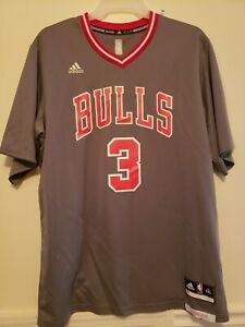 Details about Adidas NBA Dwyane Wade Chicago bulls Rev30 Pride Gray Sleeved Authentic Jersey