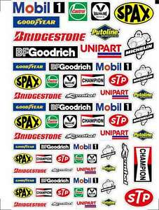 Rc Car Moto Sponsor Decals Stickers   Motor Oil Logo Glossy - Custom vinyl decals for rc cars