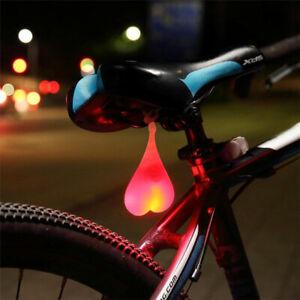 Neuf Phare Lampe Feu Arrière Casque Sécurité Lumière Rouge Etanche Vélo Bike VTT