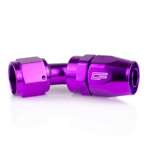 "PURPLE -6AN / 6AN Fitting ""Dash Six"" 45 degree swivel (matches tial purple)"