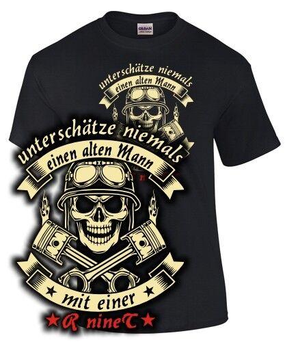 R NINET Tuning pièces accessoires Biker T-shirt vieil homme à moto Pure Racer