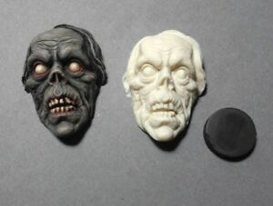 Ghoulish-Zombie-Resin-Relief-Sculpt-for-Jewelry-Crafts-Horror-Monster-UNPAINTED