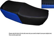 BLACK & ROYAL BLUE CUSTOM FITS HONDA CBX 550 82-86 DUAL LEATHER SEAT COVER