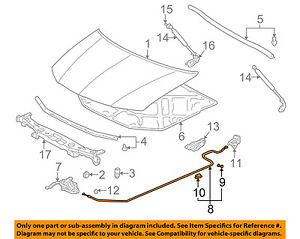 acura honda oem 04 06 mdx hood latch lock release cable 74130s3va01 rh ebay com Set Lock Parts Diagram Set Lock Parts Diagram