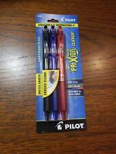 New Listingpilot Frixion Clicker Erasable Gel Pen Assorted Ink 3 Per Pack 7mm Fine 31467