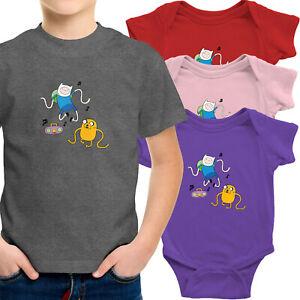Toddler-Kid-Tee-Shirt-Infant-Baby-Bodysuit-Romper-Clothes-Finn-Jake-Dance-Party