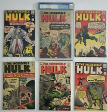 Incredible Hulk 1 2 3 4 5 6 Full Run Lot Jack Kirby Ditko Stan Lee Full Run Lot
