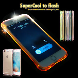 Air-Cushion-Shockproof-TPU-Flash-Light-UP-Remind-Income-Case-for-iphone-6s-7plus