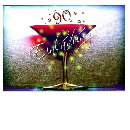 Digital Oasis Invitation Card 90 Birthday Birthday Card Envelope #062
