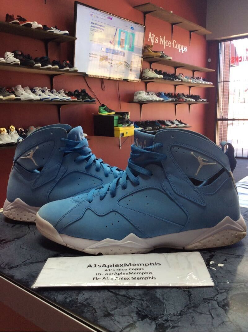 Air Jordan Retro 7 Pantone University Blue UNC Carolina 304775-400 Price reduction Seasonal price cuts, discount benefits