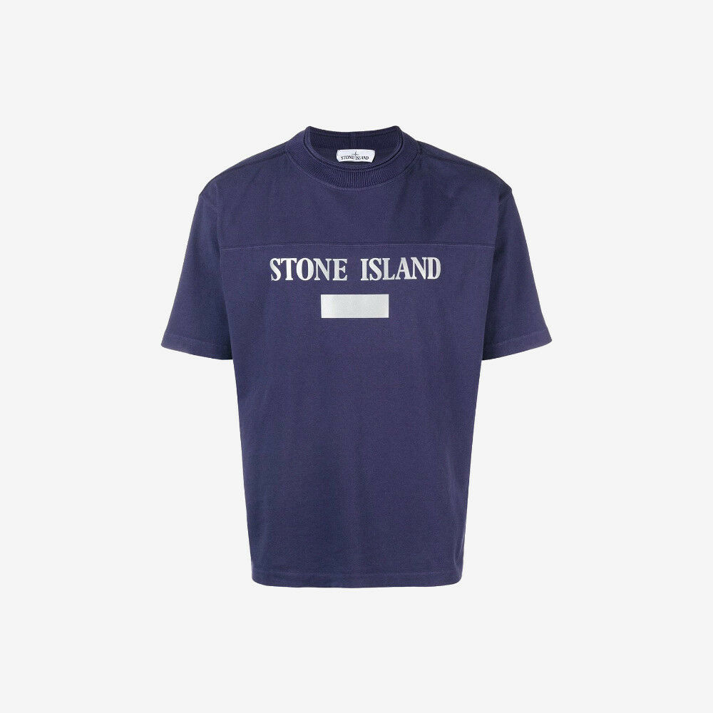 Stone Island Reflective T-Shirt - Ink Purple