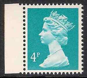 GB 1985 sg X864 4p Greenish Blue right band Times booklet stamp MNH - Halifax, United Kingdom - GB 1985 sg X864 4p Greenish Blue right band Times booklet stamp MNH - Halifax, United Kingdom