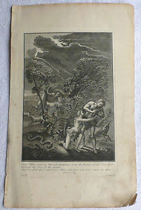 Adam amp Eve Bible And Adam and His Wife Hid Themselves Antique Print 18th c - <span itemprop='availableAtOrFrom'>Cardiff, Cardiff, United Kingdom</span> - Adam amp Eve Bible And Adam and His Wife Hid Themselves Antique Print 18th c - Cardiff, Cardiff, United Kingdom