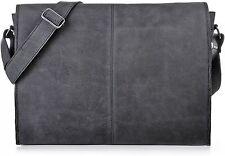 URBAN FOREST Handtaschen XL-Messenger Dunkelgrau Anthrazit Schwarz 42x28x9cm