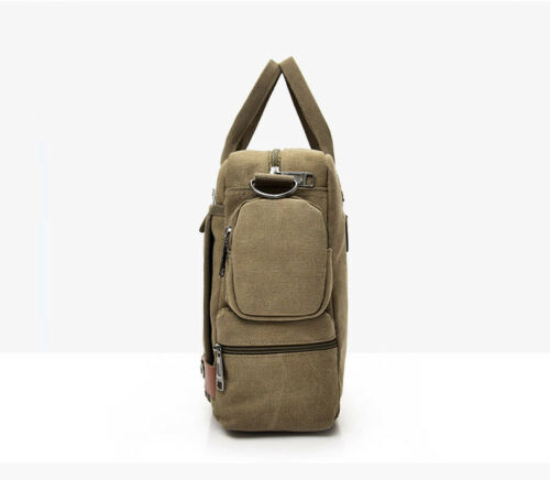 Men/'s Canvas Briefcase Large Shoulder Bag Messenger Bag Handbag Satchel Travel