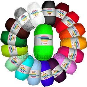 GB-Wolle-No-1-in-30-satten-Farben-Handstrickgarn-Strickgarn-Stricken-2-40-100g