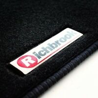 Genuine Richbrook Carpet Car Mats for Skoda Roomster 07  - Black Ribb Trim