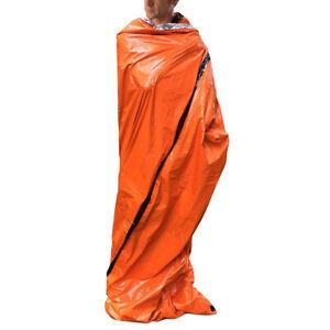 Outdoor-Emergency-Tent-Blanket-Sleeping-Bag-Survival-Shelter-Camping-Orange