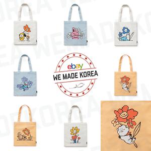 BT21-Character-Flower-Eco-Bag-Shoulder-Bag-7types-Official-K-POP-Authentic-Goods
