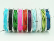 0.6mm Tiger Tail Nylon Coated Steel Beading Wire 23 Gauge - Assorted 10 Spools