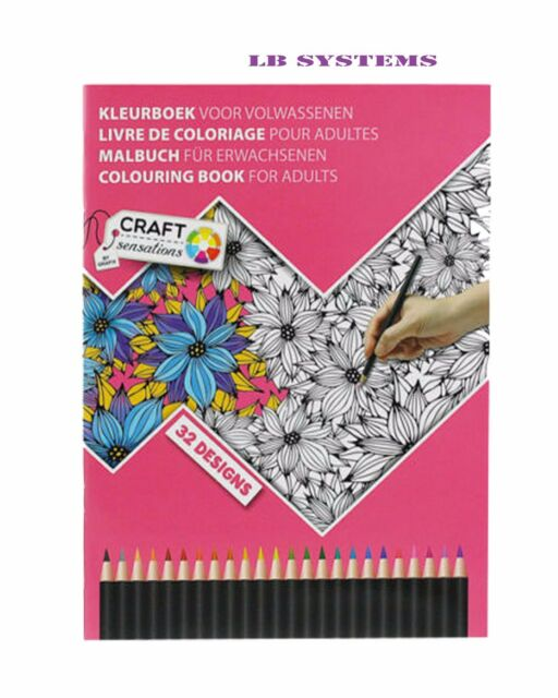Anti Stress Adult Colour Therapy 32 Page Colouring Book