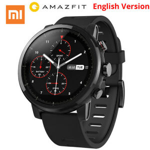 Xiaomi Huami Amazfit 2 Stratos Pace 2 Smart Watch Sleep Monitor In Black