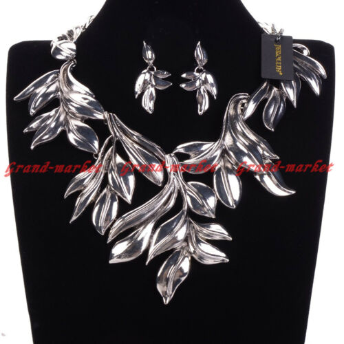 Fashion Jewelry Chaîne Vintage Leaf Style Choker Statement Pendentif Bib Collier
