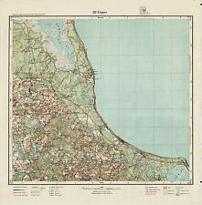 1928 Vintage army topographic map ENGURE (Latvia), scale 1:75 000