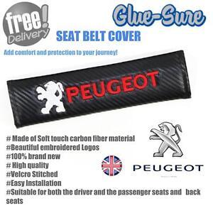 Peugeot Voiture Ceinture De Sécurité Sangle D'épaule Housse De Coussin Pad En Fibre De Carbone-afficher Le Titre D'origine Mode Attrayante